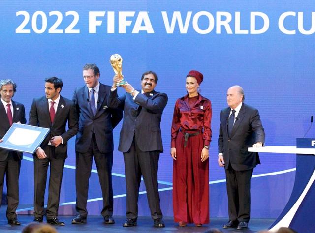 Image result for قطر تفوز باستضافة كأس العالم